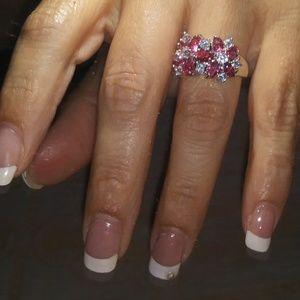 2/$22 Pink & white ring